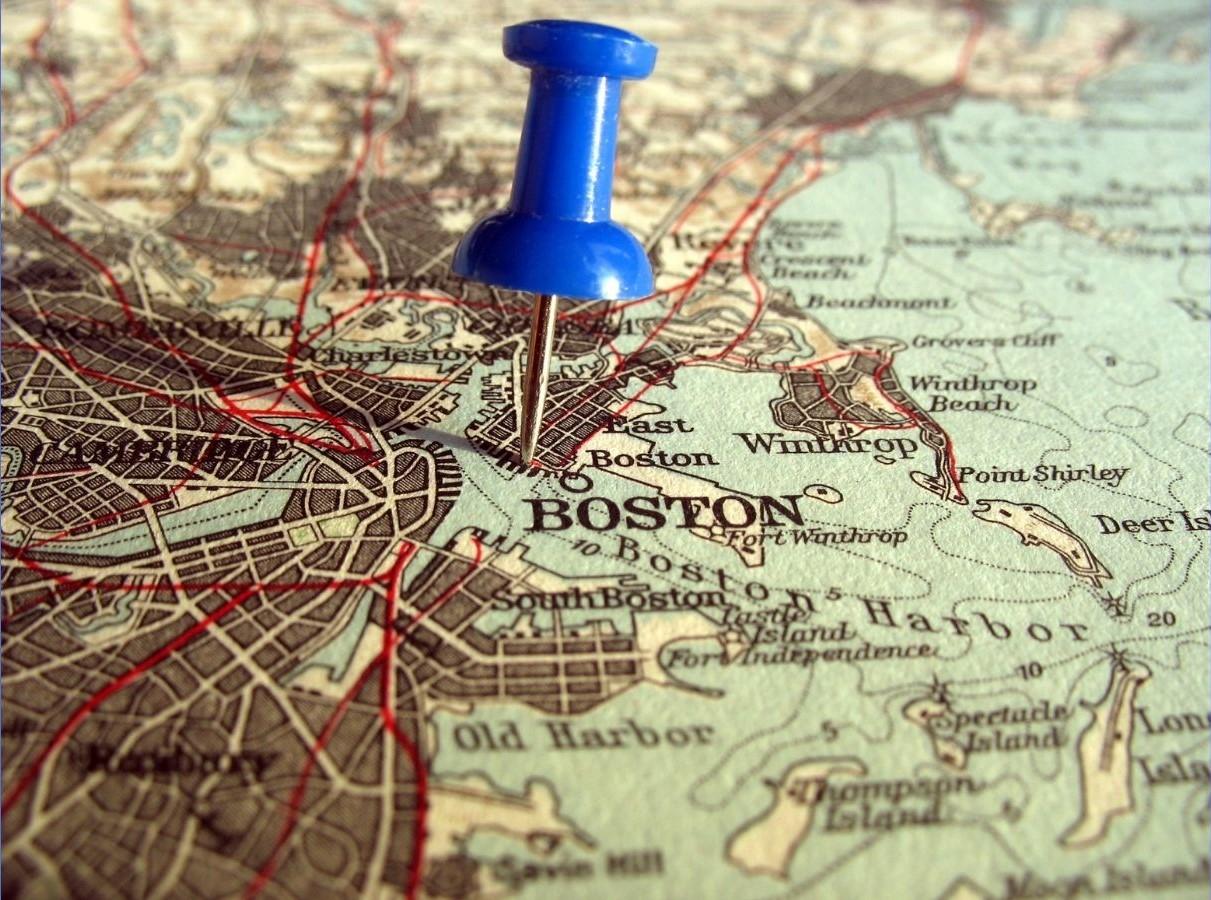 Boston Pinned Map Photo2